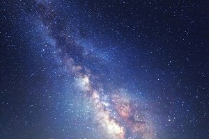 Milky Way. Night landscape