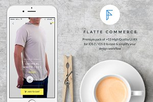 Flatte - Commerce iOS UI Kit