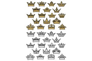 Imperial and royal crowns heraldic s