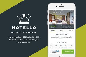 Hotello - Hotel Booking iOS UI Kit