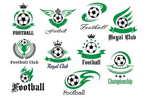 Football emblems and logo isolated o