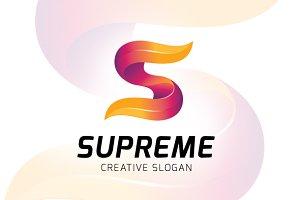 S letter logo supreme
