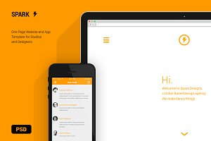 Spark - Website & App Template PSD
