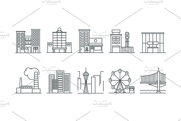 Architecture Icons Creative Market