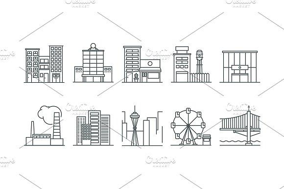 Architecture Icons Creative Market