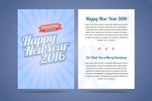 Happy New Year 2016 flyer