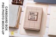 Mock-Up of Cardboard Box