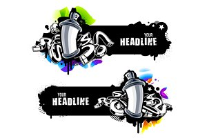 Vector Graffiti Banners