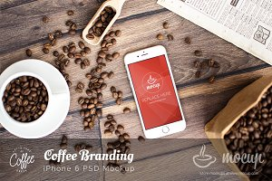 Coffee Branding iPhone 6 Mockup