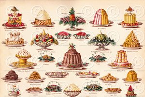 Vintage Christmas Pudding Clipart
