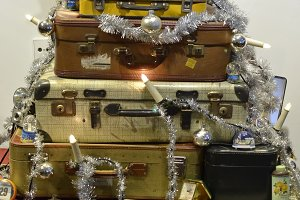 Suitcase Christmas tree