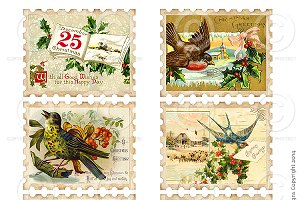 Printable Christmas Stamps