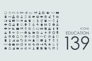 139 education icons