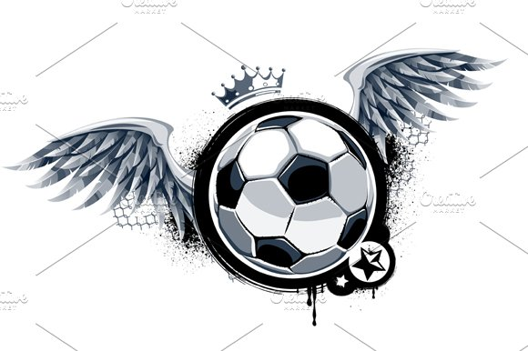 grunge football vector illustrations creative market