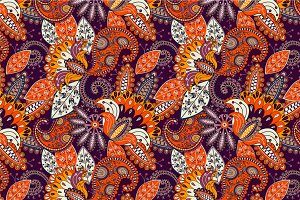 "Seamless pattern ""Sunny flowers"""