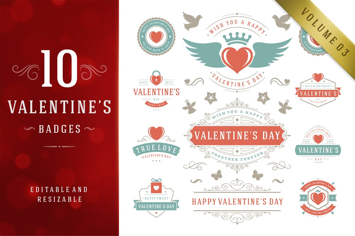 valentine s day logo badges labels logo templates creative market