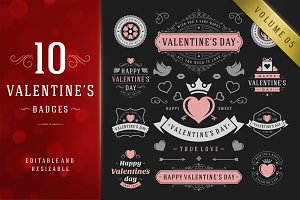 Valentine's Day Logo Badges & Labels