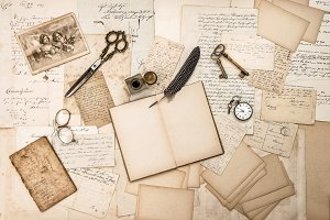 Old handwritten letters pictures