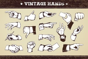 Vintage Hands | Vector Icons