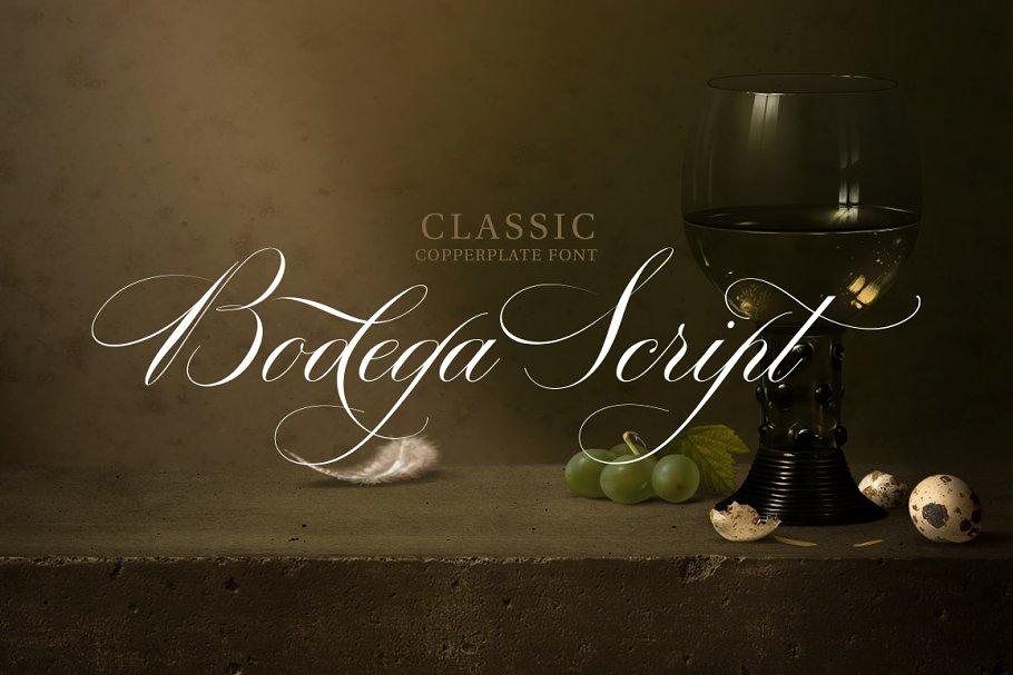 Bodega Script ~ Script Fonts ~ Creative Market