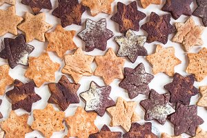 Christmas ginger cookies background