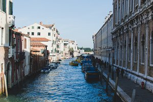 Boats in the Venice canal