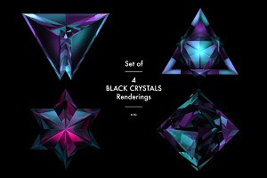 Black crystals