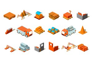 Construction project isometric