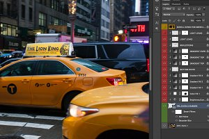 2x NYC taxi ad mock-ups