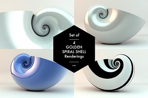 Golden Spiral Shell Set