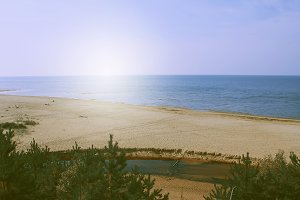 White Dune, Saulkrasti. Seascape.
