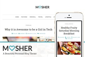 Mosher - A Beautiful Personal Blog