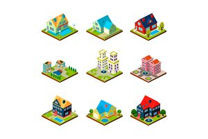 House real estate isometric