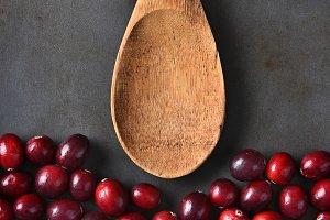 Cranberries Wood Spoon Baking Sheet