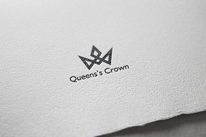 Queens Crown Logo Template