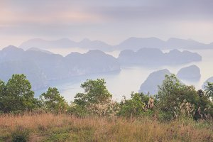 Panorama of Halong Bay