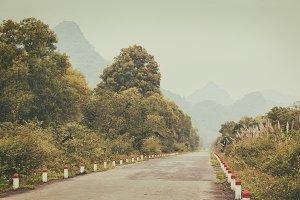 Beautiful tropical road
