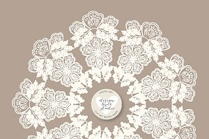 Vector round lace