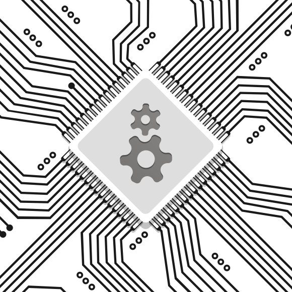 Microchip circuit vector background ~ Graphics ~ Creative