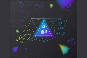 Abstract Geometry Background. Vector