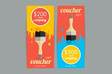 Modern Gift Voucher with Paint Brush