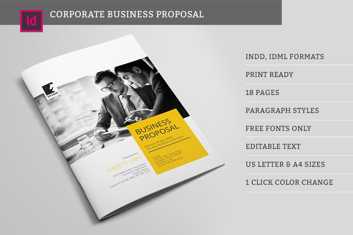 Corpo Business Proposal Brochure Templates Creative Market – Proposal Layouts