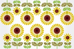 Sunflowers illustrations