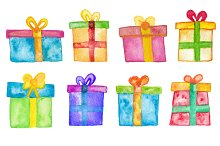 8 Watercolor gifts set
