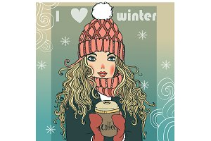 cute winter girl
