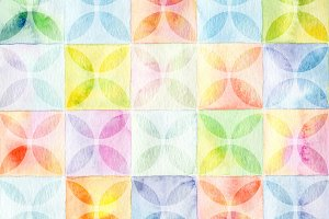 square watercolor painted background