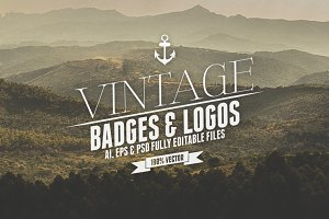 Vintage Badges & Logos Vol.3