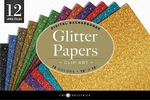 Digital • Glitter Papers