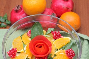 Fruit salad pomegranate orange