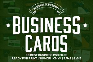 32 Stylish Business cards Bundle